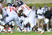 Ole Miss tight end Jeremy Liggins (15) runs with the ball during second half of an NCAA football game, Saturday, October 11, 2014 in College Station, Tex. Ole Miss defeated Texas A&M 35-20. (Mo Khursheed/TFV Media via AP Images)