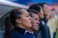 HOUSTON, TX - JANUARY 28: Amelia Valverde of Costa Rica watches her team during a game between Costa Rica and Panama at BBVA Stadium on January 28, 2020 in Houston, Texas.