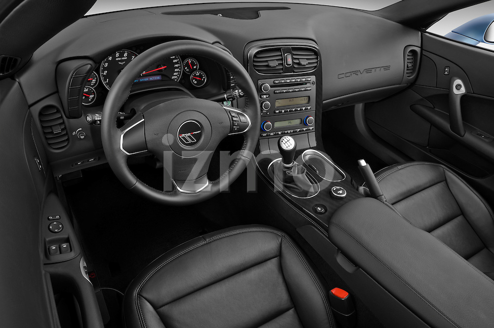 High angle dashboard view of a 2012 Chevrolet Corvette GS Coupe