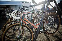 Mathieu Van der Poel (NLD/BKCP-Powerplus) brand new custom camouflaged Stevens bike<br /> <br /> CX Leuven Soudal Classic 2015
