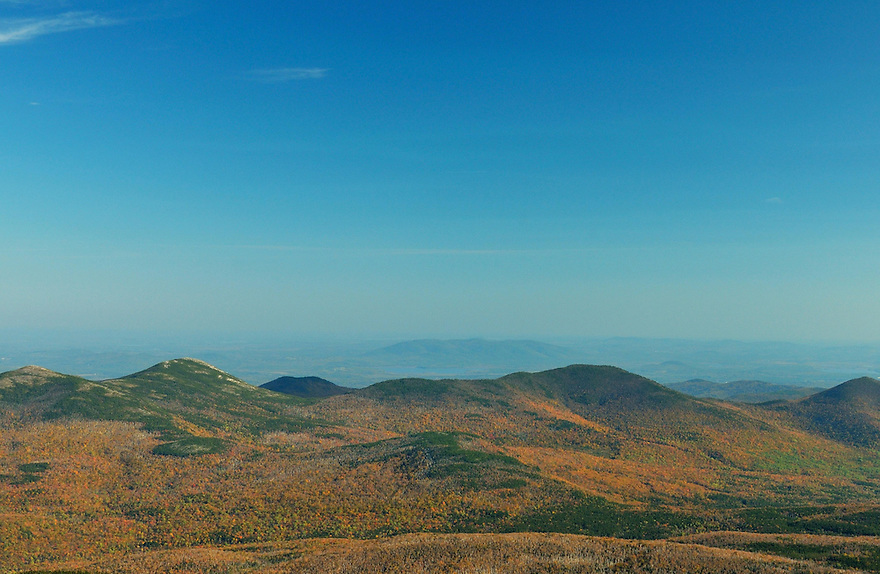 You get a long view east from several outlooks along the Carter-Moriah Tr. in New Hampshires White Mountains.