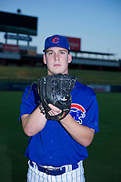 AZL Cubs pitcher Brendan King (55) poses for a photo before a game against the AZL Angels on August 31, 2017 at Sloan Park in Mesa, Arizona. AZL Cubs defeated the AZL Angels 9-2. (Zachary Lucy/Four Seam Images)