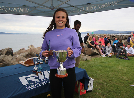Ellen Barbour of County Antrim YC and East Antrim BC,  Female Youth champion