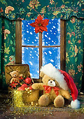 Marek, CHRISTMAS ANIMALS, WEIHNACHTEN TIERE, NAVIDAD ANIMALES, teddies, photos+++++,PLMP3336,#Xa# under Christmas tree,