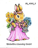 EASTER, OSTERN, PASCUA, paintings+++++,KL4585/5,#e#, EVERYDAY ,rabbit,rabbits ,sticker,stickers,