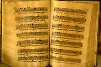 Historic music book found in the Kylemore Abbey from The Benedictine Abbey Press. Ireland
