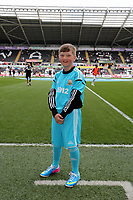 Pictured: Children mascots.<br /> Saturday 04 May 2013<br /> Re: Barclay's Premier League, Swansea City FC v Manchester City at the Liberty Stadium, south Wales.