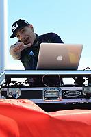 SAN JOSE, CA - JUNE 8: DJ during a game between FC Dallas and San Jose Earthquakes at Avaya Stadium on June 8, 2019 in San Jose, California.