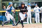 #24 Ayuri Ikemoto of Japan runs after bat during the BFA Women's Baseball Asian Cup match between South Korea and Japan at Sai Tso Wan Recreation Ground on September 2, 2017 in Hong Kong. Photo by Marcio Rodrigo Machado / Power Sport Images