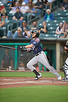 Seth Beer (8) of the Reno Aces at bat against the Salt Lake Bees at Smith's Ballpark on August 24, 2021 in Salt Lake City, Utah. The Aces defeated the Bees 6-5. (Stephen Smith/Four Seam Images)