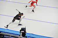 OLYMPIC GAMES: PYEONGCHANG: 19-02-2018, Gangneung Oval, Long Track, 500m Men, Nico Ihle (GER), Artur Was (POL), ©photo Martin de Jong