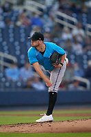 Miami Marlins pitcher Paul Campbell (53) during a Major League Spring Training game against the Washington Nationals on March 20, 2021 at FITTEAM Ballpark of the Palm Beaches in Palm Beach, Florida.  (Mike Janes/Four Seam Images)