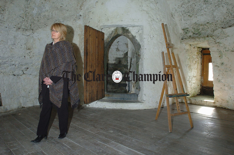 President of the of Burren College of Art, Mary Hawkes Greene. Photograph by John Kelly.