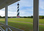 Cape Hatteras National Seashore, NC:  Cape Hatteras Lighthouse (1870) from the museum porch.