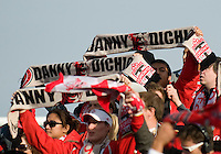 17 October 2009: The Toronto FC fans show their support for Danny Dichio during an MLS game between Toronto FC and Real Salt Lake at BMO Field in Toronto..Toronto FC won 1-0..