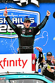 NASCAR XFINITY Series<br /> Irish Hills 250<br /> Michigan International Speedway, Brooklyn, MI USA<br /> Saturday 17 June 2017<br /> Denny Hamlin, Hisense Toyota Camry celebrates his win in Victory Lane<br /> World Copyright: Nigel Kinrade<br /> LAT Images