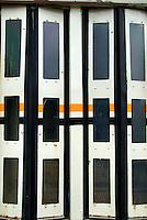 Door of an abandoned tram car, Columbus, Ohio
