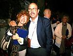 FIAMMA NIRENSTEIN CON PIERLUIGI PIGI BATTISTA<br /> PREMIO LETTERARIO CAPALBIO 2002
