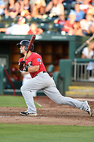 Frisco Rough Riders outfielder Jake Smolinski (3) at bat during a game against the Springfield Cardinals on June 1, 2014 at Hammons Field in Springfield, Missouri.  Springfield defeated Frisco 3-2.  (Mike Janes/Four Seam Images)