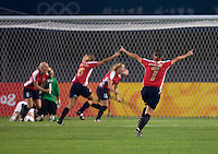 Trine Ronning. The US lost to Norway, 2-0, during first round play at the 2008 Beijing Olympics in Qinhuangdao, China.