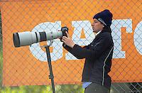Daily News photographer Grant Matthew shoots the the international women's hockey match between the New Zealand Black Sticks and Malaysia at TET Stadium, Stratford, New Zealand on Thursday, 15 December 2016. Photo: Dave Lintott / lintottphoto.co.nz