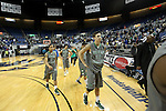 Green Valley players walk off the court after losing 70-68 to Hug in a semi-final game in the NIAA 4A State Basketball Championships at Lawlor Events Center in Reno, Nev, on Thursday, Feb. 23, 2012. .Photo by Cathleen Allison