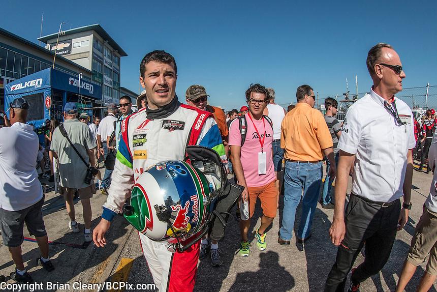 Memo Rojas, 12 Hours of Sebring, Sebring International Raceway, Sebring, FL, March 2015.  (Photo by Brian Cleary/ www.bcpix.com )