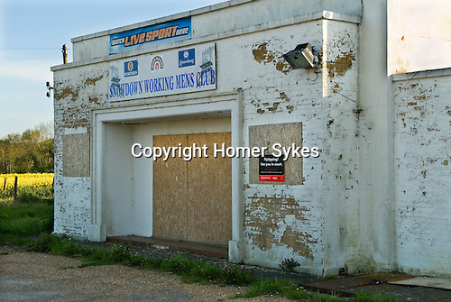 Kent Coalfields, Snowdown Colliery Kent  Uk. Abandoned remains of  Snowdown Colliery <br /> Working Mens Club. 2012, 2010s