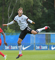 German Eric Martel (6)  pictured during a friendly soccer game between the national teams Under19 Youth teams of Belgium and Germany on tuesday 8 th of September 2020  in Genk , Belgium . PHOTO SPORTPIX.BE | SPP | DIRK VUYLSTEKE