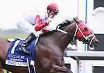 22 April 2011.  Derby Kitten and Julien Leparoux win the 30th running of the Coolmore Lexington GRIII $200,000 at Keeneland racecourse.