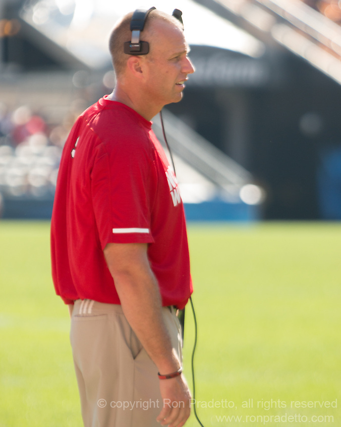 North Carolina State head coach Dave Doeren. The North Carolina Wolfpack defeated the Pitt Panthers 35-17 at Heinz Field, Pittsburgh, PA on October 14, 2017.