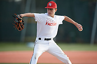 Matthew Mancuso (24), from Syosset, New York, while playing for the Nationals during the Baseball Factory Pirate City Christmas Camp & Tournament on December 30, 2017 at Pirate City in Bradenton, Florida.  (Mike Janes/Four Seam Images)