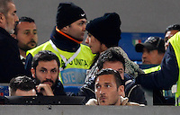 Calcio, Serie A:  Roma vs Palermo. Roma, stadio Olimpico, 21 febbraio 2016. <br /> Roma's Francesco Totti sits on the stand for the Italian Serie A football match between Roma and Palermo at Rome's Olympic stadium, 21 February 2016.<br /> UPDATE IMAGES PRESS/Riccardo De Luca
