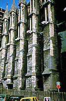 Reims Cathedral--exterior detail of towers.