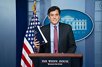 Peter Harrell, senior director for international economics and competitiveness at the White House National Security Council (NSC), speaks during a news conference in the James S. Brady Press Briefing Room at the White House in Washington, D.C., U.S., on Tuesday, June 8, 2021. President Biden released a multi-pronged strategy to secure critical supply chains in products ranging from medicines to microchips, and is also weighing a potential trade probe that could result in U.S. tariffs on certain magnet imports. <br /> CAP/MPI/RS<br /> ©RS/MPI/Capital Pictures
