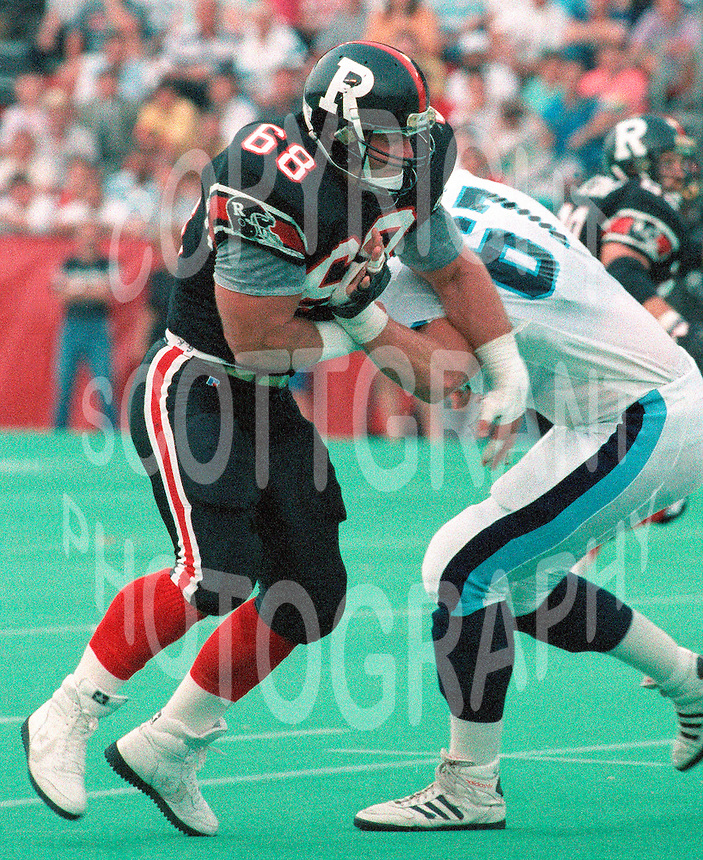 Glenn Kulka Ottawa Rough Riders 1991. Copyright photograph Scott Grant/