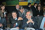 ROMANO PRODI CON WALTER VELTRONI  CENA ELETTORALE ULIVO ROMA 2003
