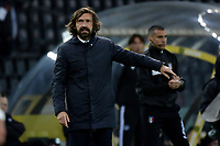 Andrea Pirlo coach of Juventus FC reacts during the Serie A football match between Udinese Calcio and Juventus FC at Friuli Stadium in Udine (Italy), May 2nd, 2020. Photo Federico Tardito / Insidefoto