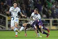 21th September 2021; Stadio Artemio Franchi, Firenze, Italy; Italian Serie A football, AC Fiorentina versus  FC Inter; Alessandro Bastoni of Inter fouls Torreira of Fiorentina watched by Marcelo Brozovic of Inter