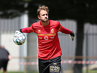 goalkeeper Gaetan Coucke (1) of KV Mechelen pictured during the warm up before a friendly soccer game between KV Mechelen and the Greek Volos NFC during the preparations for the 2021-2022 season , on saturday 17 of July 2021 in GEEL , Belgium . PHOTO SEVIL OKTEM | SPORTPIX