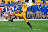 Crissy Shannon, drum major for the University of Pittsburgh marching band, performs before the game. The Virginia Cavaliers defeated the Pitt Panthers 30-14 in a football game at Heinz Field, Pittsburgh, Pennsylvania on August 31, 2019.