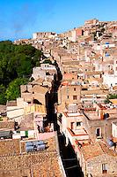 Roof top view of Érice, Erice, Sicily stock photos.