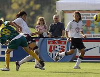 Carlos Borja, left, Gabriel Farfan, right, Nike Friendlies, 2004.