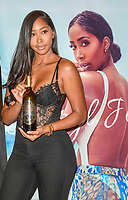 **FILE PHOTO** Dr. Dre's Alleged New Girlfriend, Apryl Jones, Outed By Love & Hip Hop Star.<br /> <br /> Las Vegas NV - August 17:  :Apryl Jones, 2018 Boxing Hall of Fame meet and greet at Augustus Ballroom at Caesars Palace in Las Vegas, Nevada on August 17, 2018. <br /> CAP/MPI/DAM<br /> ©DAM/MPI/Capital Pictures