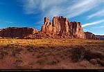 Camel Butte at Sunrise, Monument Valley Navajo Tribal Park, Navajo Nation Reservation, Utah/Arizona Border