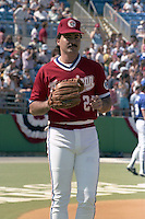 Rafael Palmeiro during the 8th annual Pizza Hut All-Star Softball game on February 5, 1989 at Boardwalk and Baseball in Haines City, Florida.  (MJA/Four Seam Images)