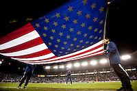 USA Flag..USA vs Honduras, Saturday Jan. 23, 2010 at the Home Depot Center in Carson, California. .Hoduras 3, USA 1.