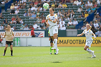 LA Sol's Brittney Bock heads a ball. The LA Sol defeated FC Gold Pride of the Bay Area 1-0 at Home Depot Center stadium in Carson, California on Sunday April 19, 2009.  ..  .