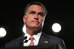 Republican presidential candidate Mitt Romney speaks at the Veterans of Foreign Wars convention in Reno, Nev., on Tuesday, July 24, 2012..Photo by Cathleen Allison