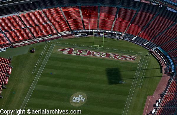 aerial photograph San Francisco 49ners football field, Candlestick Park, San Francisco